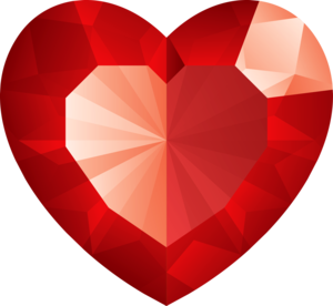 Dark Red Heart Transparent PNG PNG Clip art