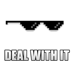 Deal With It Sunglass Transparent Background PNG images