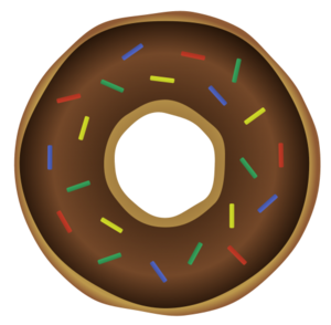 Donut Background PNG PNG Clip art