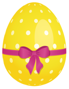 Easter Eggs Dotted Yellow PNG PNG Clip art