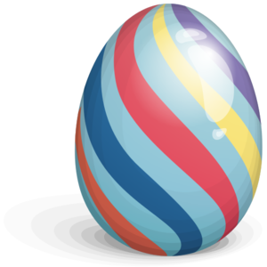 Easter Eggs Stripes PNG PNG icon