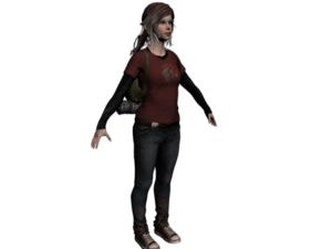 Ellie The Last of Us PNG Pic PNG Clip art