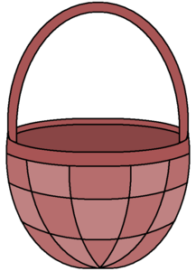 Empty Easter Basket PNG Image PNG Clip art