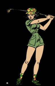 Female Golfer Transparent Background PNG Clip art