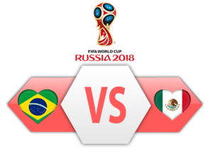 FIFA World Cup 2018 Brazil VS Mexico PNG Image PNG Clip art