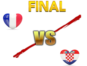 FIFA World Cup 2018 Final Match France VS Croatia PNG File PNG Clip art
