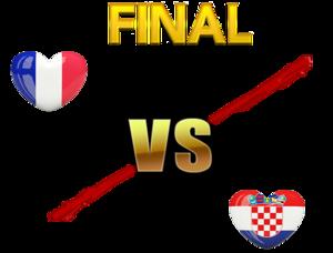 FIFA World Cup 2018 Final Match France VS Croatia PNG File PNG Clip art