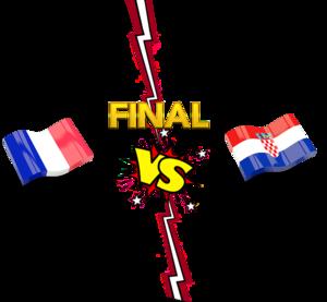 FIFA World Cup 2018 Final Match France VS Croatia PNG Transparent Image PNG Clip art