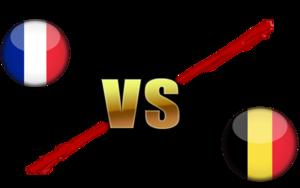 FIFA World Cup 2018 Semi-Finals France VS Belgium PNG File PNG Clip art
