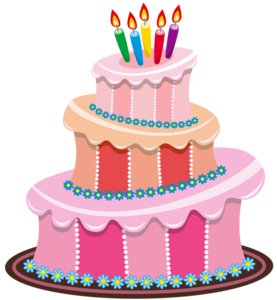 First Birthday Cake PNG File PNG Clip art