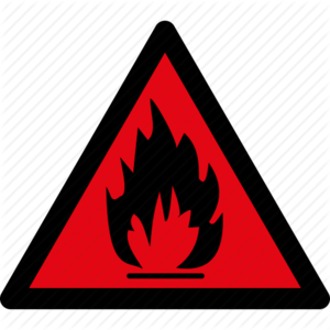 Flammable Sign PNG Pic PNG Clip art