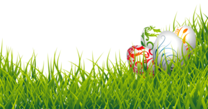 Floral Design Easter Eggs In Grass PNG PNG Clip art