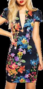 Floral Dress PNG File PNG Clip art