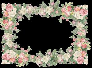 Floral Frame PNG File PNG Clip art