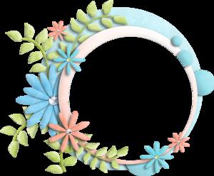 Floral Frame Transparent Background PNG Clip art