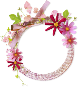Floral Round Frame PNG Clipart PNG Clip art