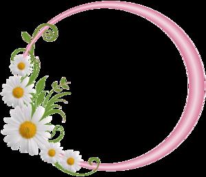 Floral Round Frame PNG File PNG Clip art