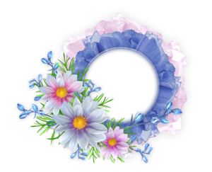 Floral Round Frame PNG Image PNG Clip art
