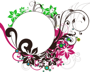 Floral Round Frame PNG Photo PNG Clip art
