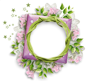 Floral Round Frame PNG Photos PNG clipart