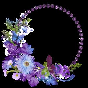 Floral Round Frame PNG Transparent Image PNG Clip art