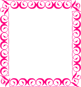 Fuchsia Border Frame PNG File PNG Clip art
