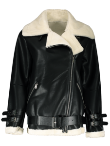 Fur Lined Leather Jacket PNG Image PNG Clip art