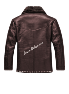 Fur Lined Leather Jacket PNG Transparent PNG Clip art