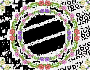 Garland Frame PNG File PNG Clip art
