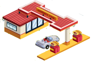 Gas Station PNG Pic PNG Clip art