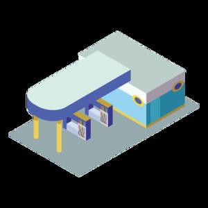 Gas Station PNG Transparent Image PNG Clip art