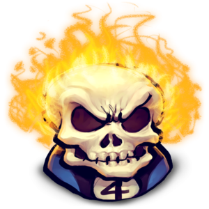 Ghost Rider Face PNG File PNG Clip art