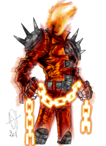 Ghost Rider Face PNG Image PNG Clip art