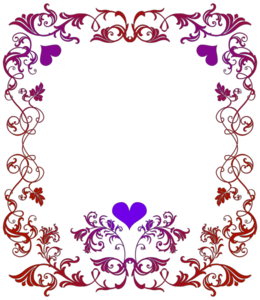 Girly Border PNG File PNG Clip art