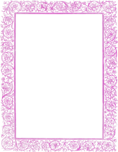Girly Border PNG Free Download PNG Clip art