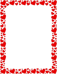 Girly Border Transparent Background PNG Clip art