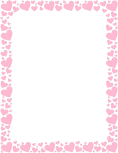 Girly Border Transparent PNG PNG Clip art