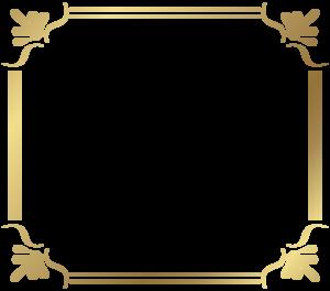 Gold Border Frame PNG File PNG Clip art