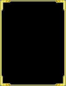 Gold Border Frame PNG Free Download PNG Clip art