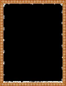 Gold Border Frame PNG Pic PNG Clip art
