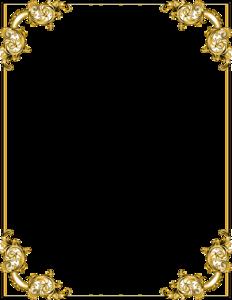Gold Border Frame PNG Transparent Image PNG Clip art
