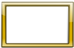 Gold Border Frame PNG Transparent PNG Clip art