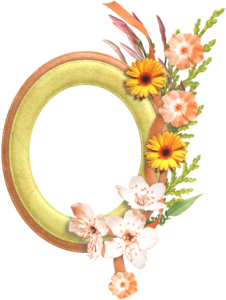 Gold Flower Frame Transparent Background PNG Clip art