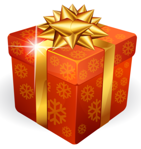Gold Gift Box PNG PNG Clip art