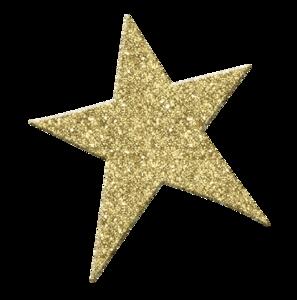 Gold Glitter Star PNG File PNG Clip art