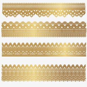 Gold Lace PNG File PNG Clip art