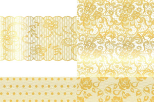 Gold Lace PNG HD PNG Clip art