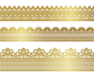 Gold Lace Transparent Background PNG Clip art