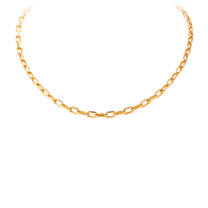 Gold Link Chain Necklace PNG PNG Clip art