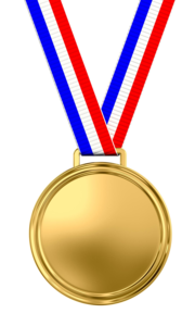 Gold Medal Transparent Background PNG Clip art